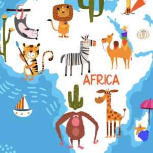Animal World Map Wallpaper