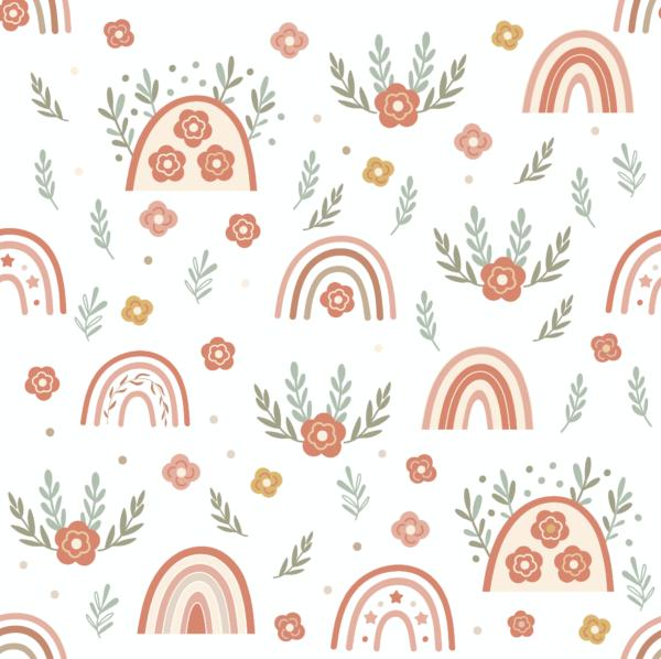 Wallpaper: Leafy Rainbows